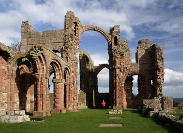 lindisfarne priory island holy celtic monastery thin ruins places northumberland england place century cottages lost join 12th stablewood coastal history